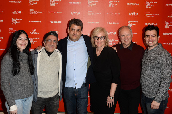"""(L-R) Allison Fogarty, Bob Glouberman, Rich Fox, Kris Curry, Russell Eaton, and Abel Horwitz attend the """"The Blackout Experiments"""" Premiere during the 2016 Sundance Film Festival at Egyptian Theatre on January 24, 2016 in Park City, Utah. (Jan. 23, 2016 - Source: Matt Winkelmeyer/Getty Images North America)"""